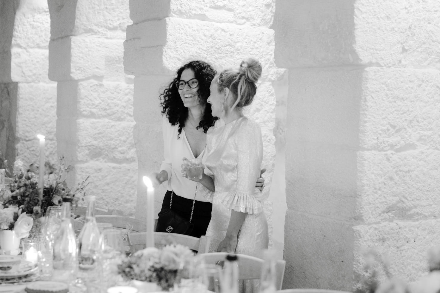 A bride supported by her wedding planner