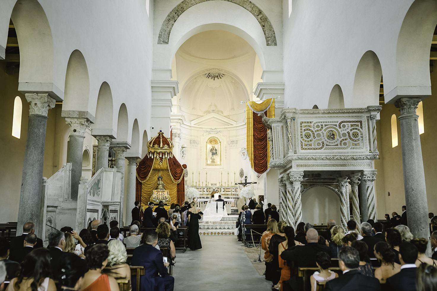 Catholic wedding in the Duomo of Ravello