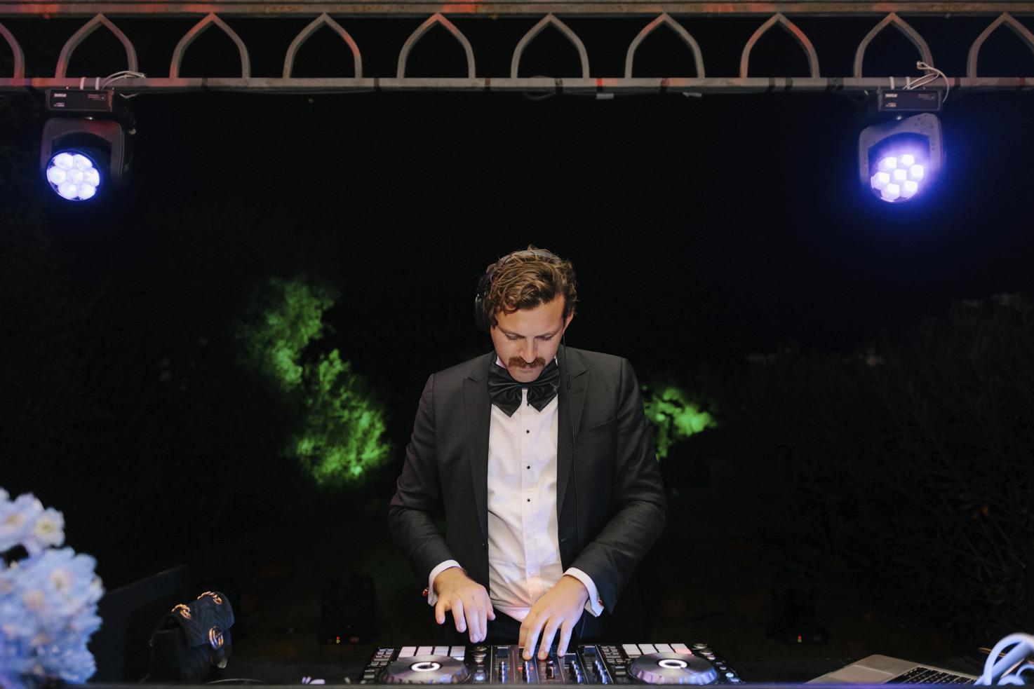 DJ for wedding reception in Italy