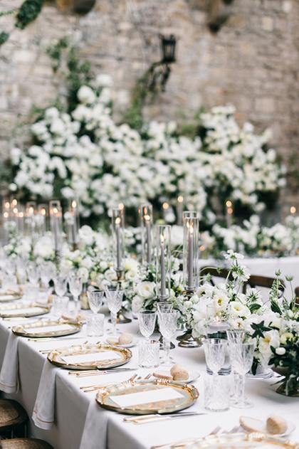 Wedding reception in a castle near Florence
