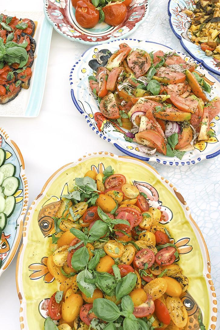 Fresh mixed Italian vegetables
