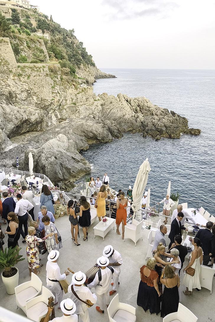 Italian aperitif on the Amalfi Coast