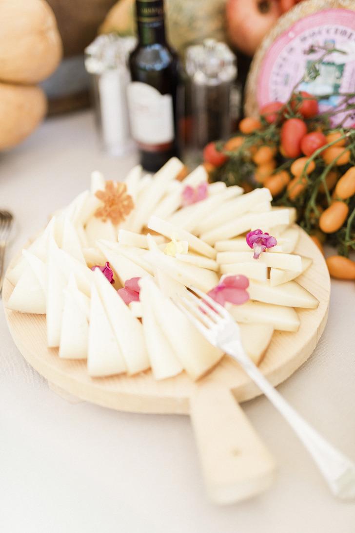 Local cheese for Italian aperitif