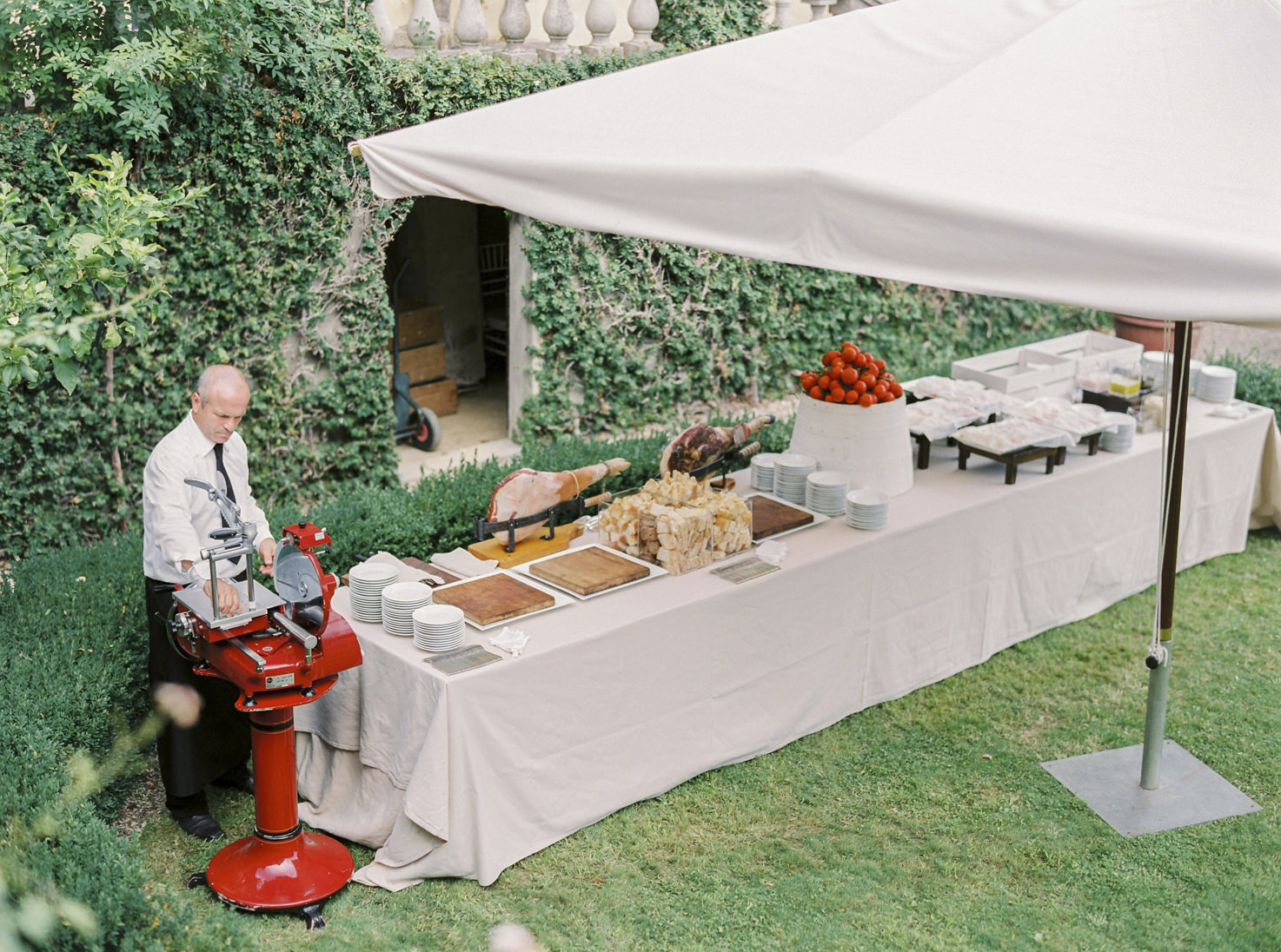 Food station for Italian aperitif