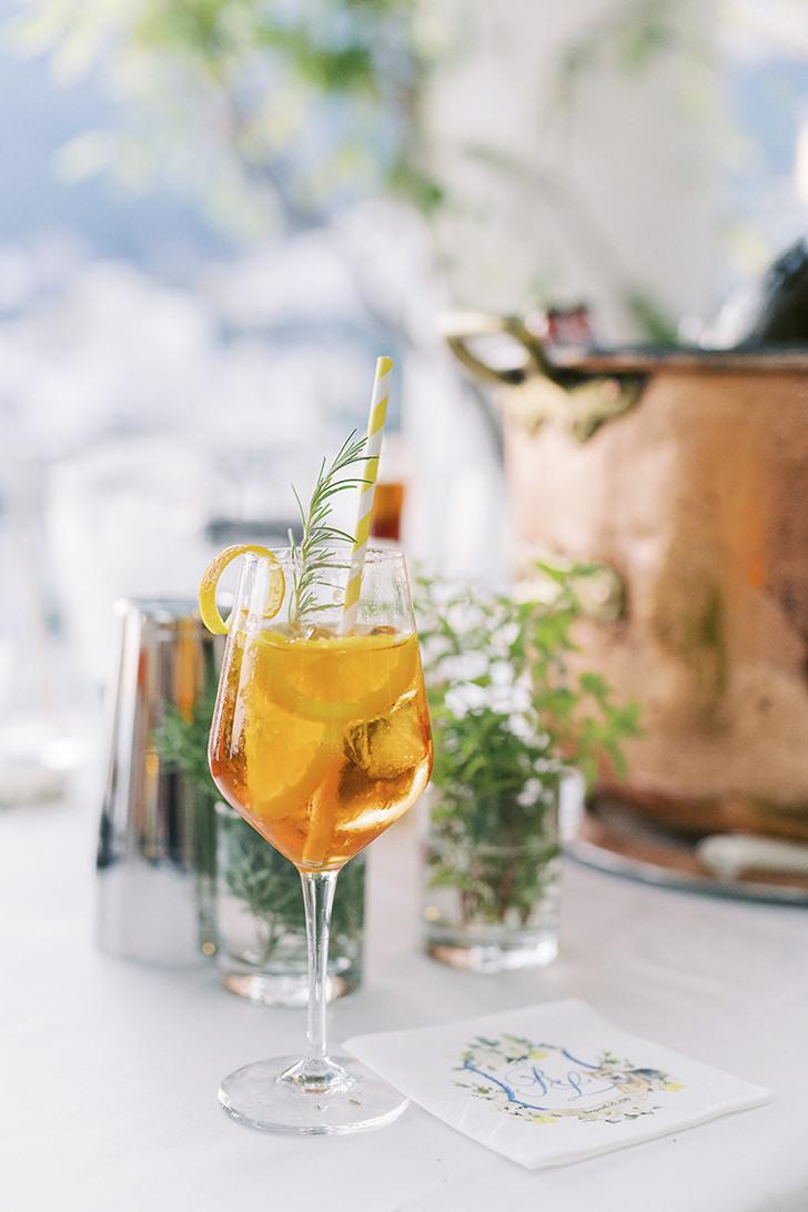 Italian cocktail Aperol Spritz