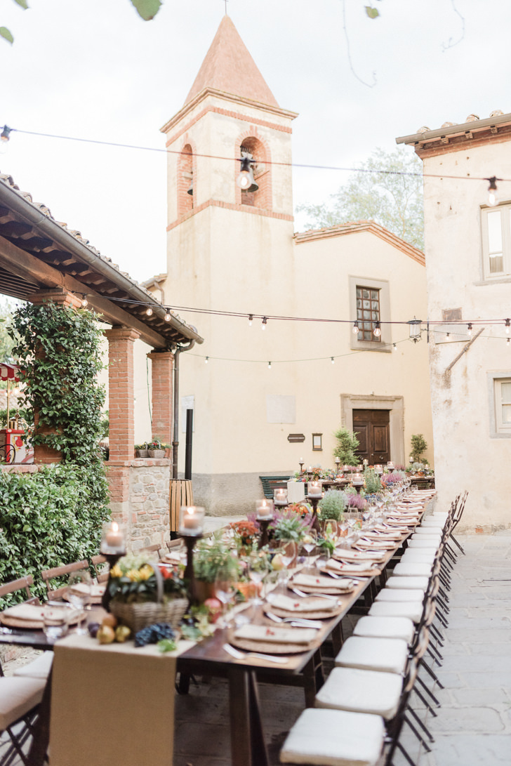 Rehearsal dinner in a Tuscan village