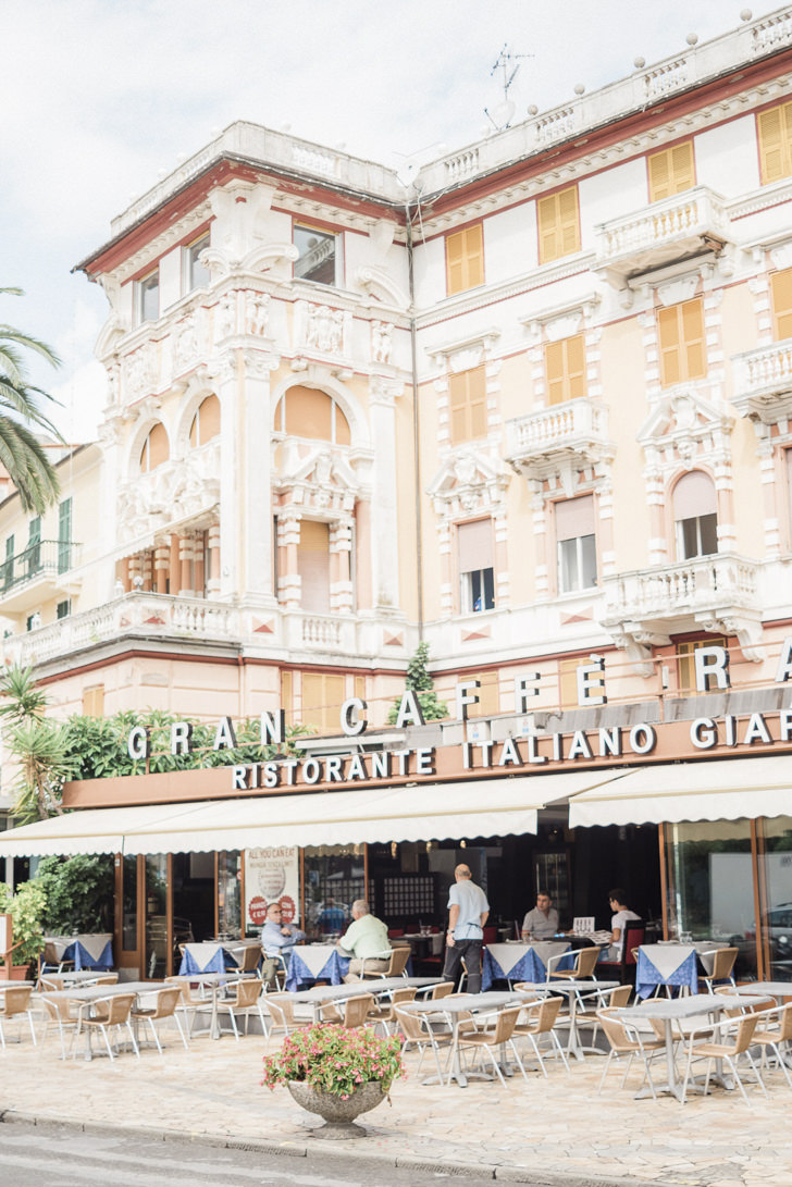 A cafe on the Italian Riviera