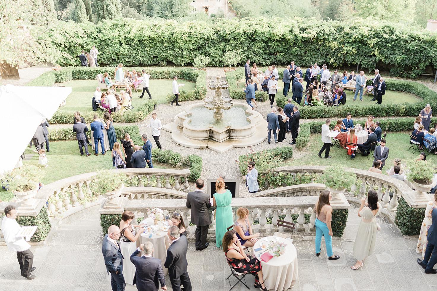 Aperitif for Italian wedding