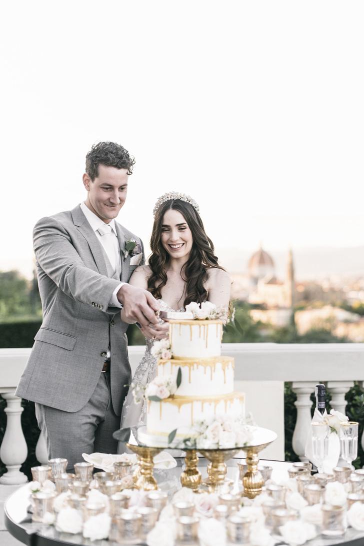 Multi-tier wedding cake