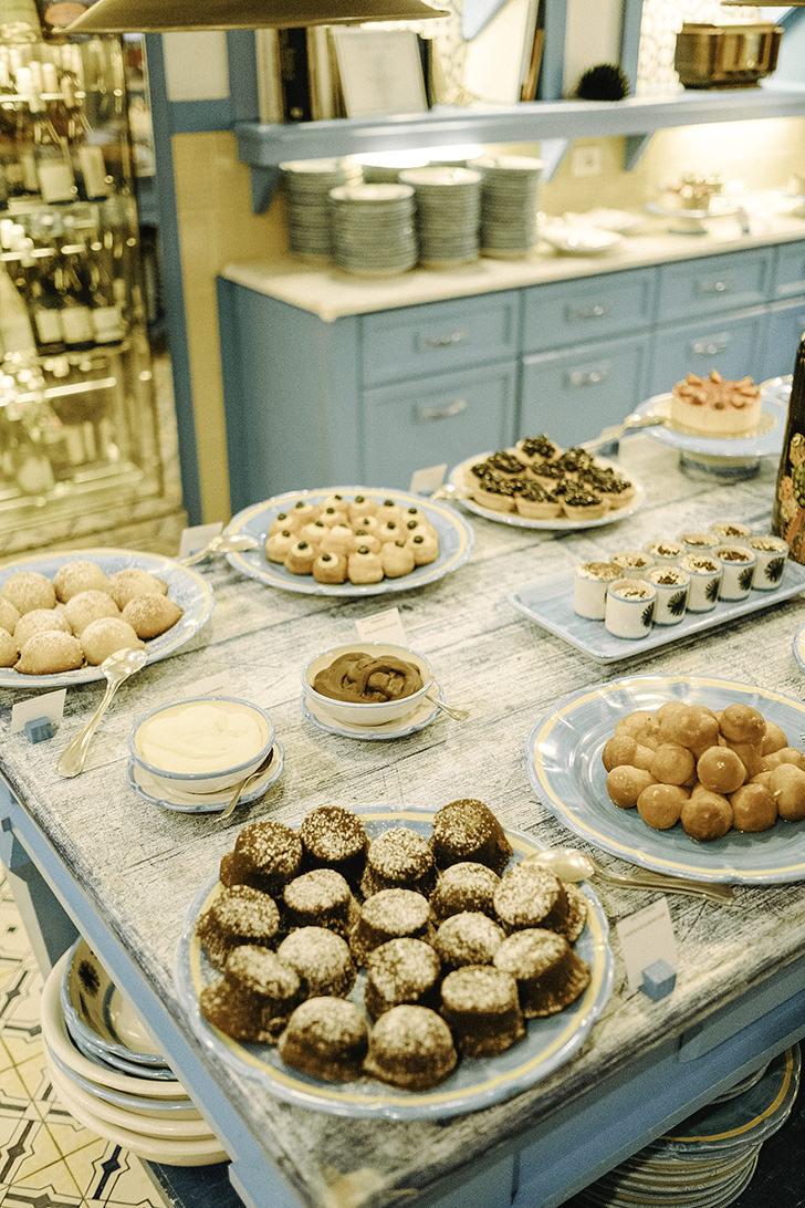 Buffet with Italian desserts