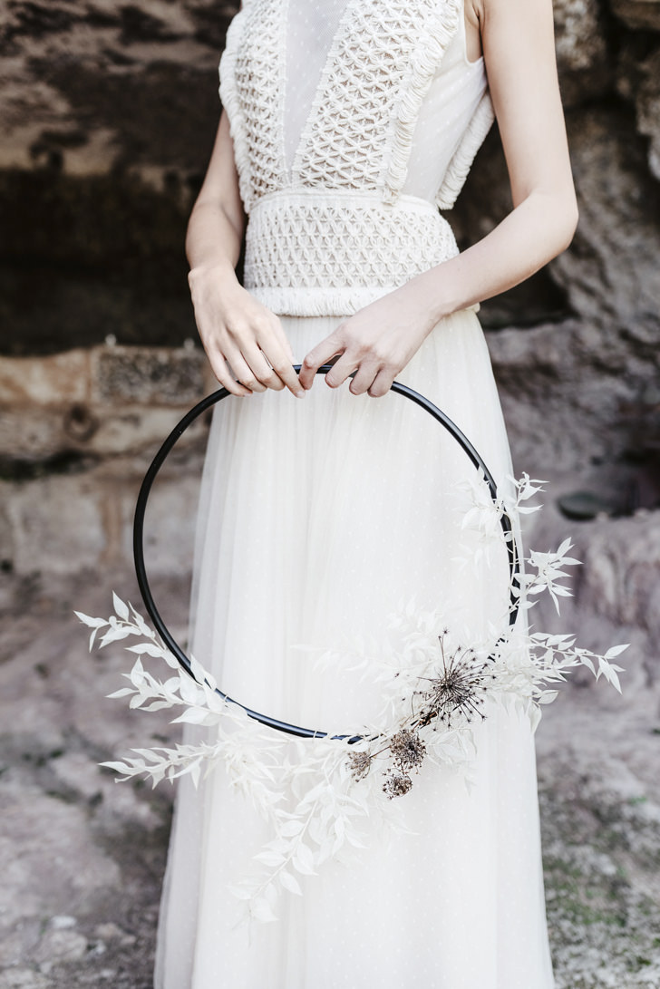 Bridal dress for minimal wedding