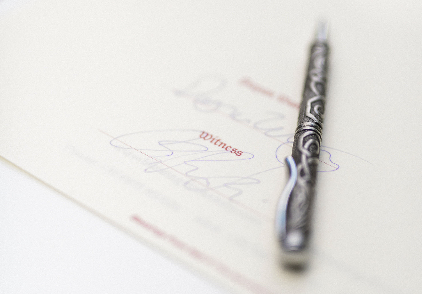 Signing of legal documents for wedding in Italy