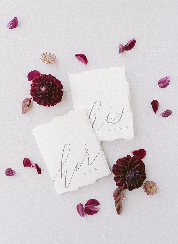 Customized wedding vows