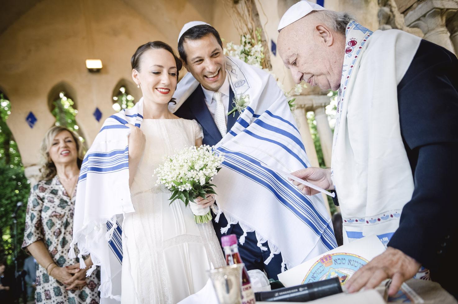 Jewish wedding ceremony at Villa Cimbrone, Ravello