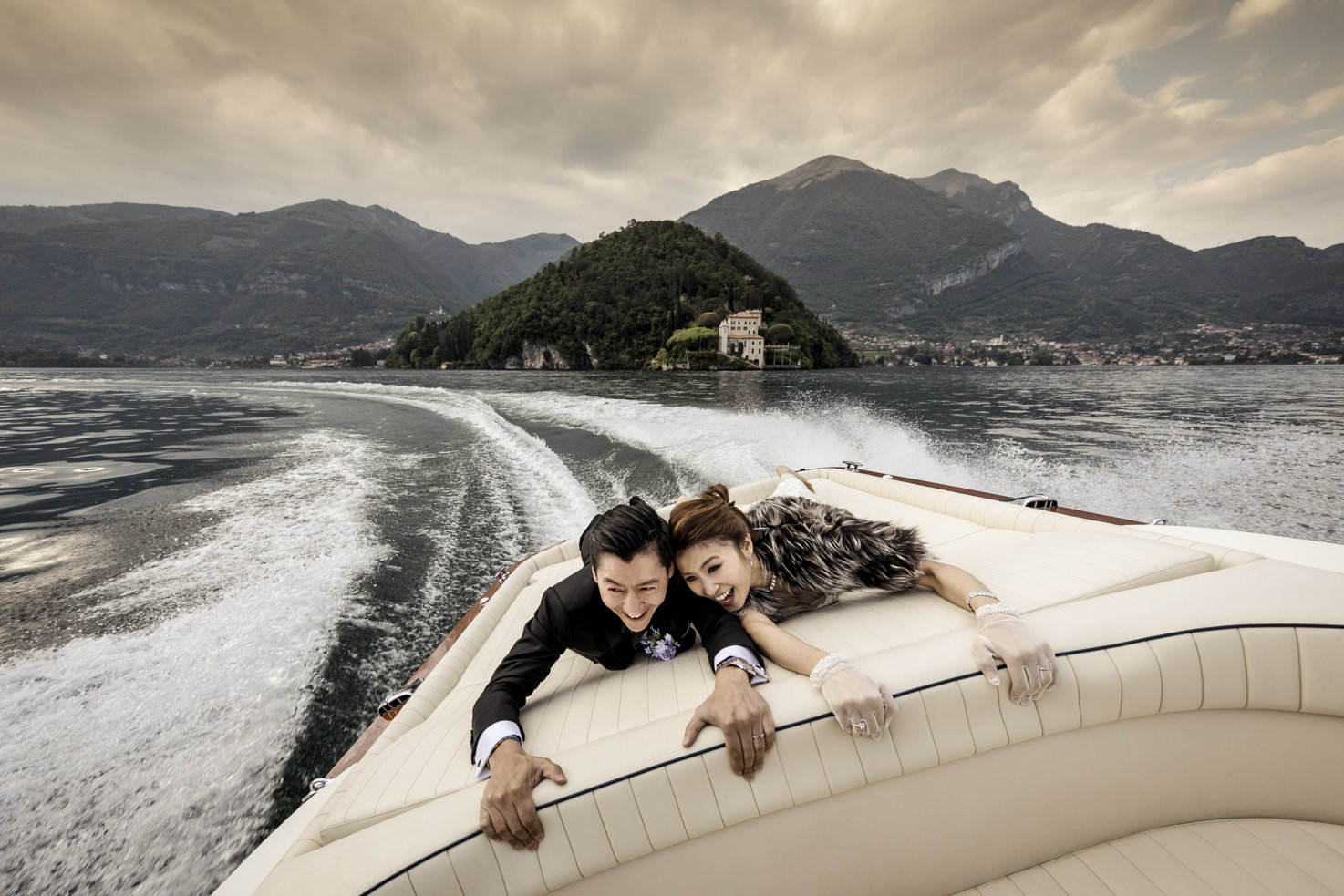 Boat tour on Lake Como
