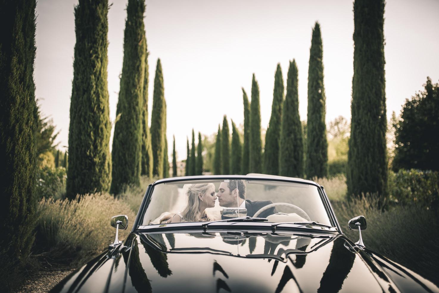 Luxury car for wedding in Tuscany