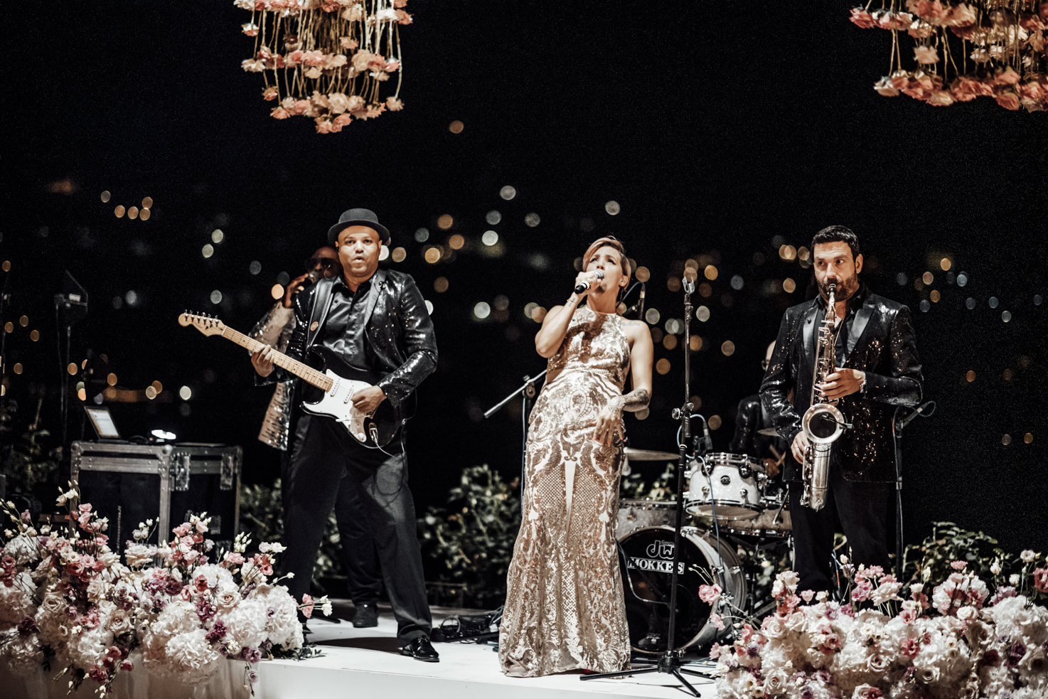 Music band for wedding reception