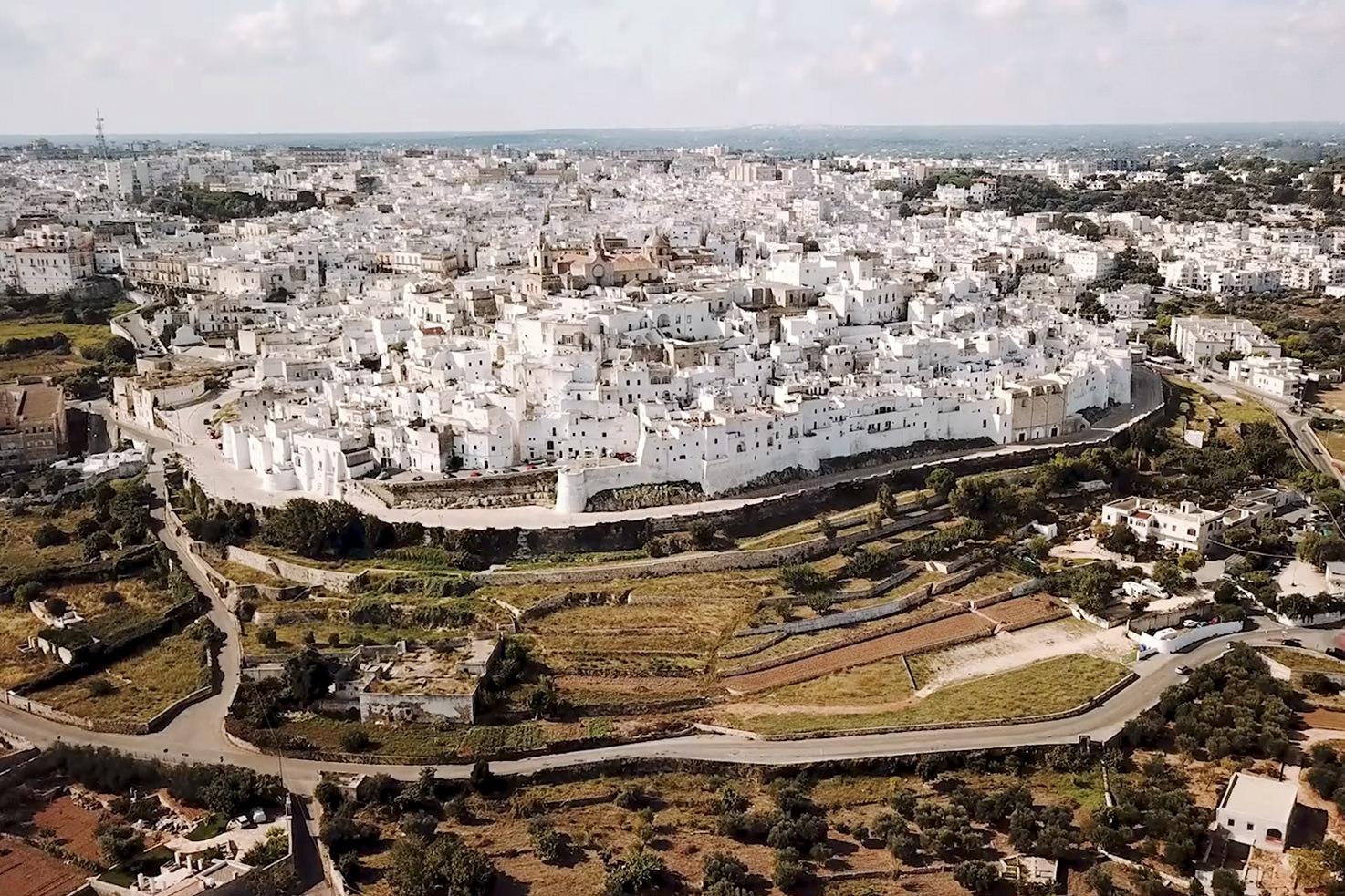 Panorama of Ostuni in Puglia