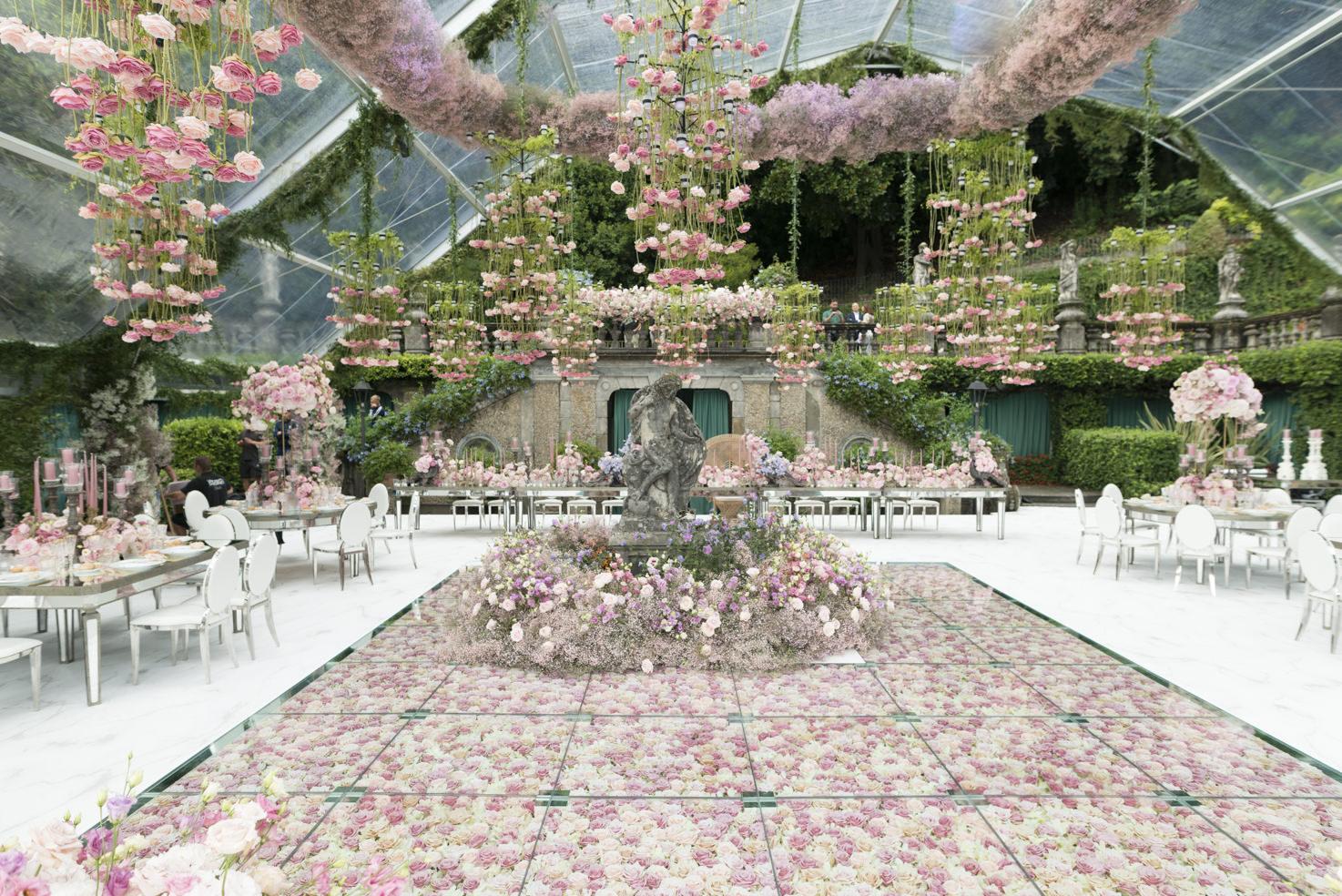 Wedding banquet on Lake Como at Villa Pizzo