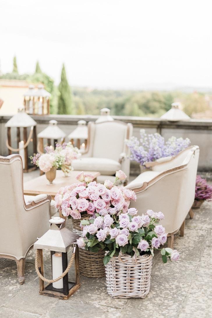 Wedding cocktail at Il Borro