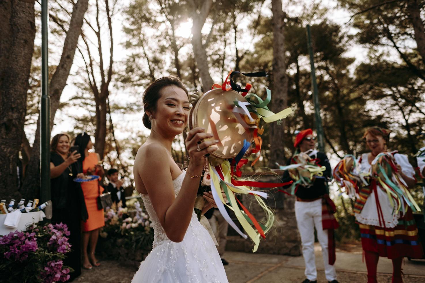 Traditional dancers in Capri