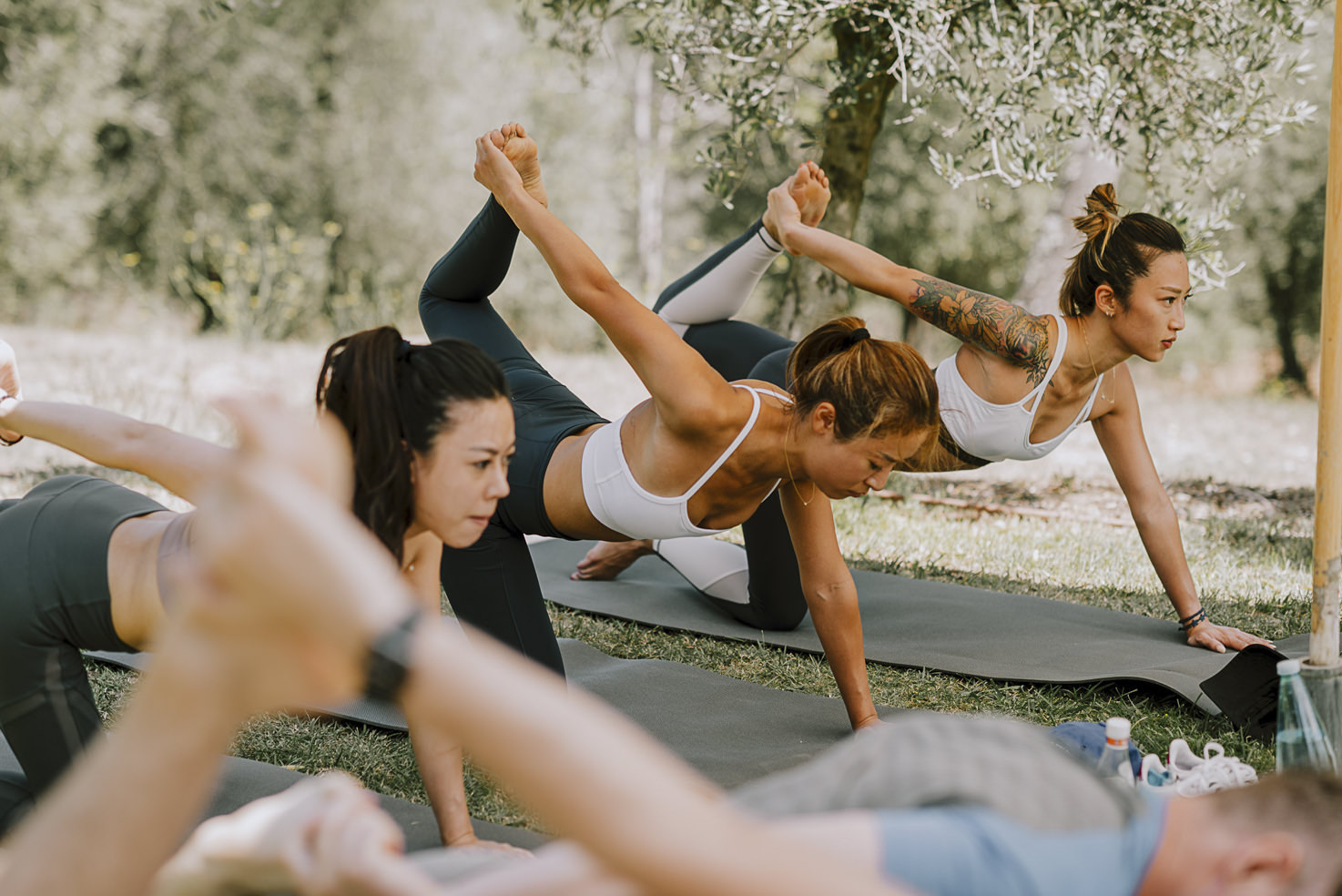 Yoga class for wedding guests
