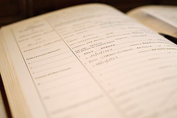 Paperwork requirements for an Italian wedding