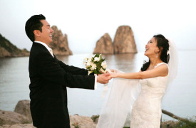 <p>Sherrie and Richard, wedding in Capri</p>