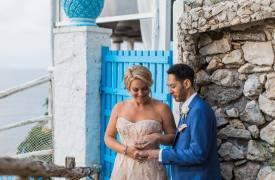 <p>Taryn and Brendan, outdoor wedding in Capri</p>
