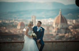 <p>Laura and William, intimate wedding in Florence</p>