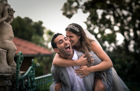 <p>Raquel and Michael, Jewish Wedding on the Italian Riviera</p>