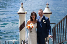 <p>Janet and Philip, wedding on Lake Como</p>