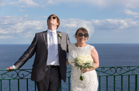 <p>Misty and Anders, wedding in Positano</p>