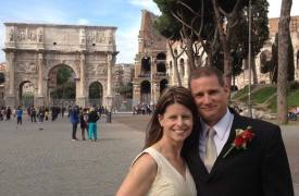<p>Scott and Rebecca, wedding in Rome</p>