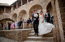 <p>Neil and Rachel, wedding in San Gimignano</p>