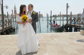 <p>Katy and James, civil wedding in Venice</p>