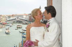 <p>Abdel and Teresa, civil wedding in Venice</p>