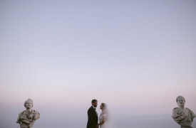 <p>Ed and Terri, symbolic wedding in Ravello</p>