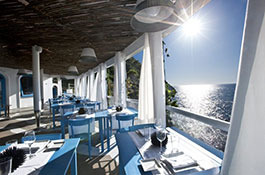 Wedding Reception in a Contemporary Beach Club in Anacapri