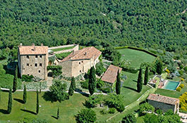 Vicarello medieval castle in Tuscany