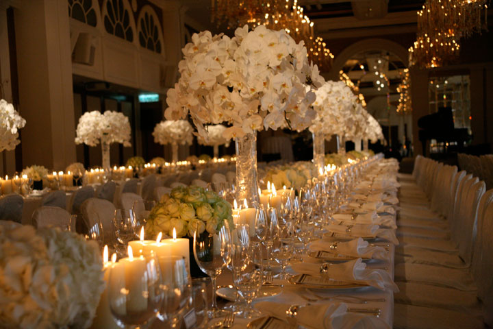 exclusive wedding decor decorate your wedding reception in italy stylish floral 3949