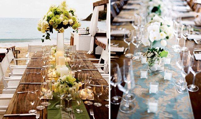 Decorate your wedding reception in italy stylish floral beach table wedding decor junglespirit