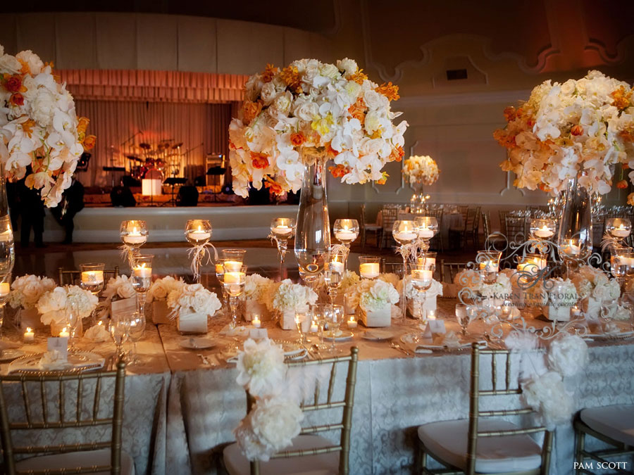 Decorate Your Wedding Reception In Italy Stylish Floral Arrangements