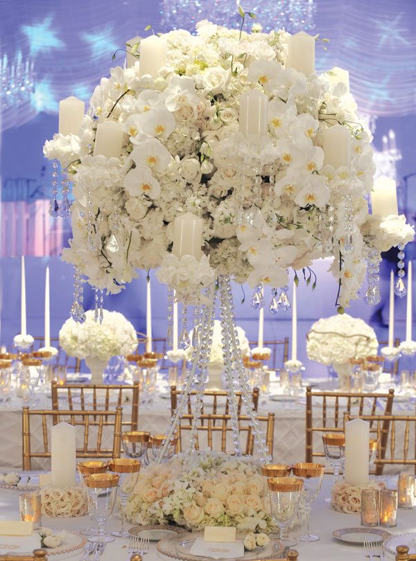 Luxurious Table Decors With Orchids And Roses Credits Preston Bailey