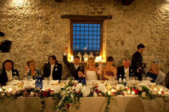 Italian wedding reception