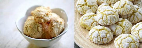 Traditional Italian amaretti