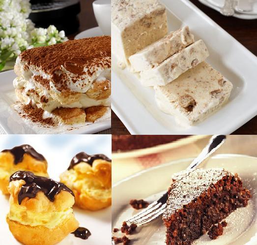Tiramisu, meringata, beignet, torta caprese