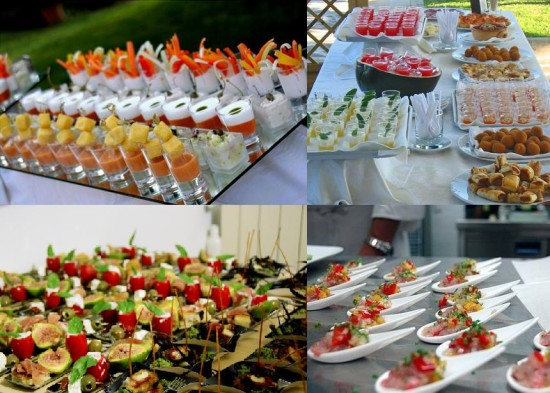 Finger food for Italian wedding menu