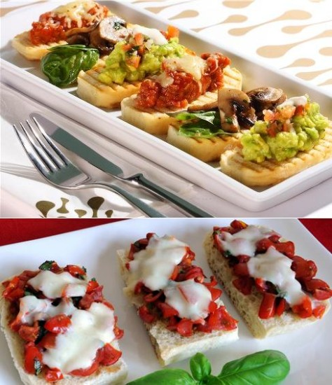 Italian bruschetta for menu starter