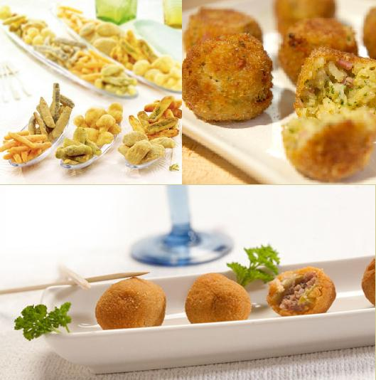 Fried delicacies for Italian wedding menu